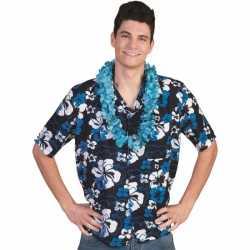 Blauw hawaii blouse voor heren